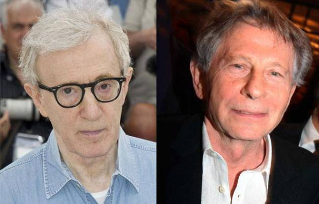Woody Allen et Roman Polanski, montage photo.