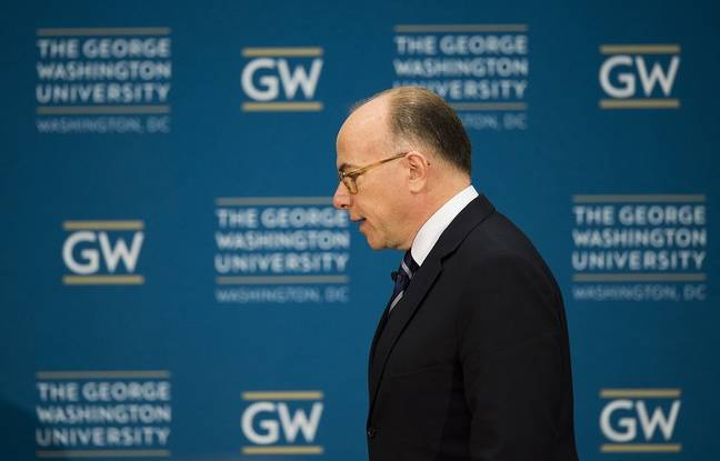 Bernard Cazeneuve à l'université George Washington dans la capitale américaine, le 11 mars 2016.