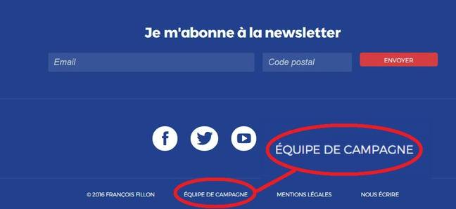Capture d'écran du site officiel de François Fillon, le 3 mars 2017.