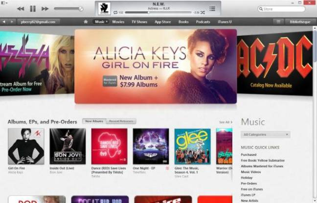 L'interface d'iTunes 11.