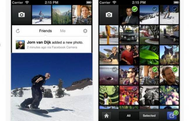 Capture d'écran de Facebook Camera sur l'Apple Store.