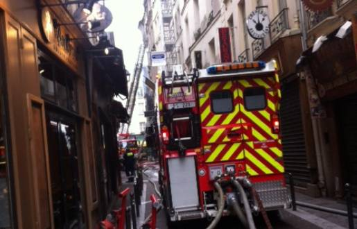paris un incendie rue de la huchette dans le 5e fait huit. Black Bedroom Furniture Sets. Home Design Ideas