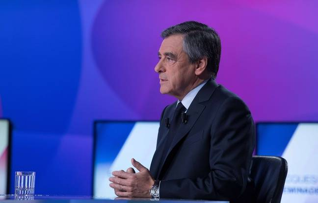 François Fillon sur le plateau de France 2, le 20 avril 2017