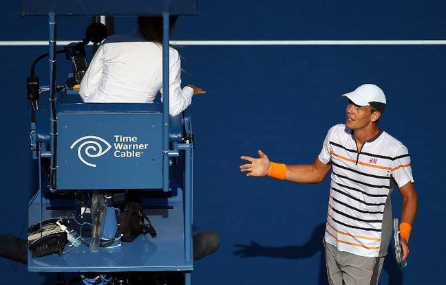 Berdych s'énerve auprès d'un arbitre lors de l'US Open 2015 (photo d'illustration).