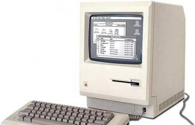 Le premier Macintosh commercialisé par Apple en 1984.