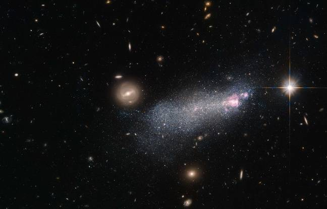 Illustration: une galaxie observée par Hubble.