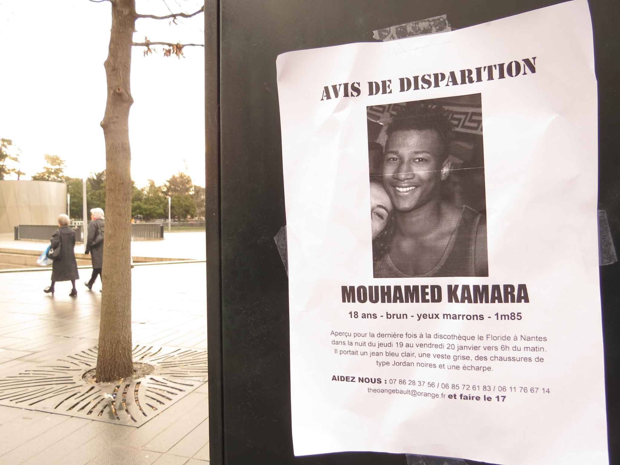 Disparition inquiétante à Nantes de Mouhamed Kamara