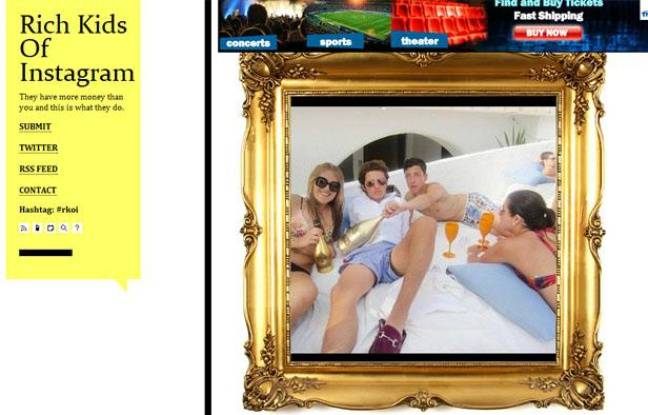 Capture d'écran du Tumblr «Rich Kids of Instagram».