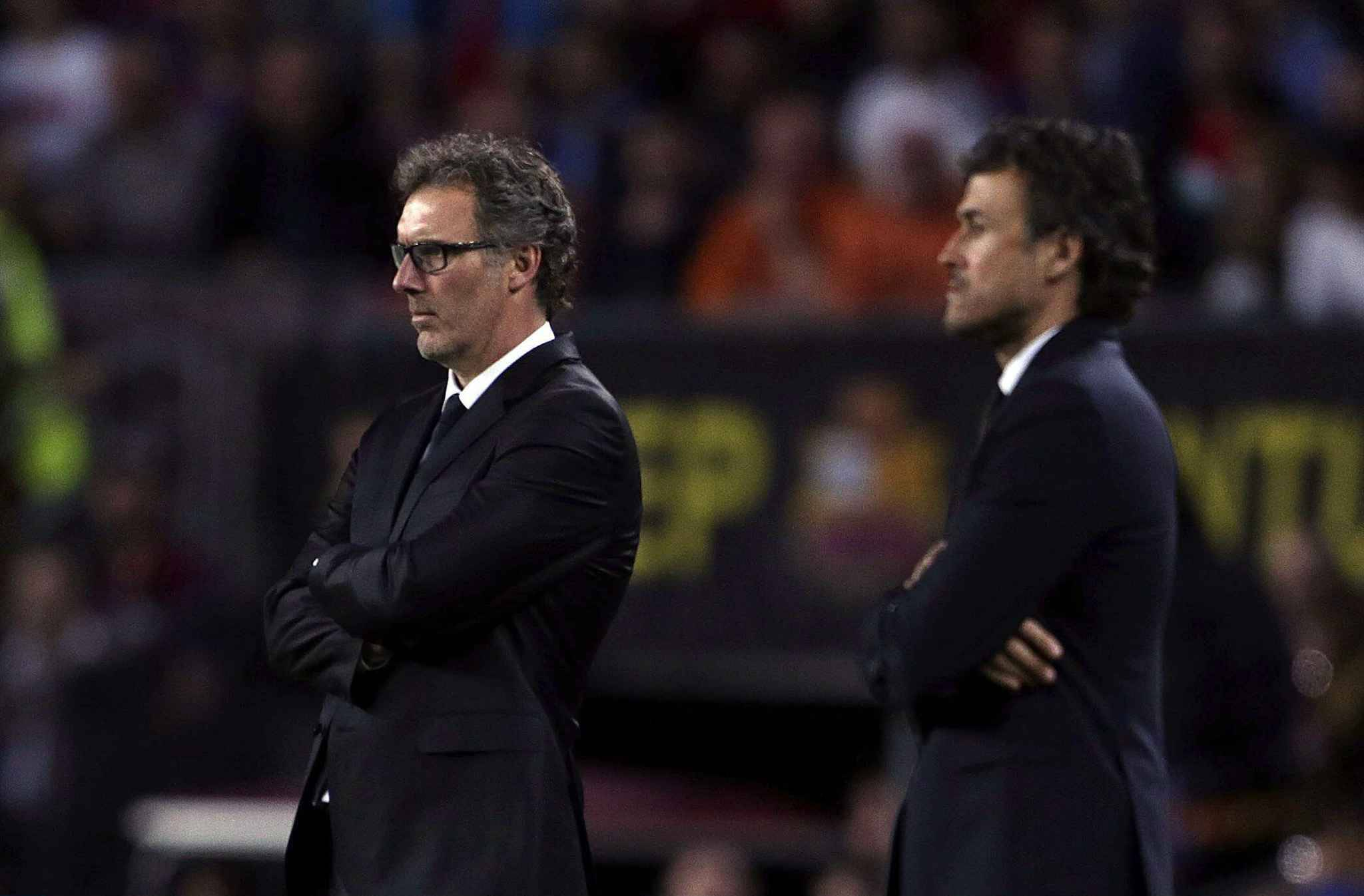 Tokeo la picha la Laurent Blanc and Luis Enrique