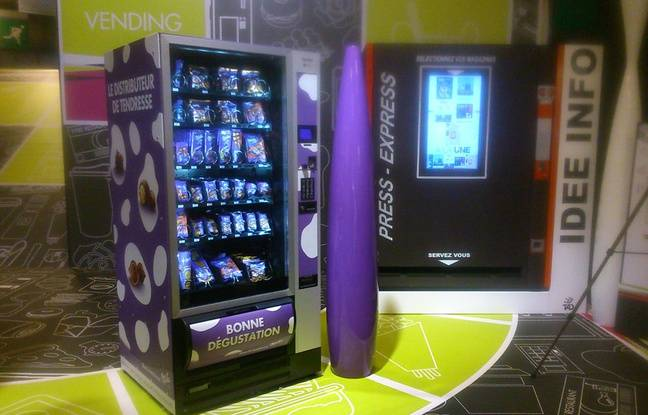Illustration d'un distributeur Milka présenté au salon Vending, qui détaille les innovations de la distribution automatique.