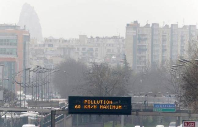 Pollution à Paris le 15 mars 2014