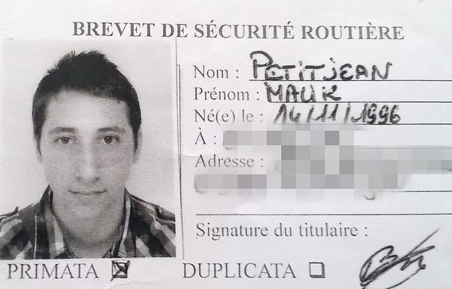 a photo Abdel Malik Petitjean, 19 years a  terrorist attack on a xe9 & #;. & # XE8  church pr; s Rouen, July 26, 2016