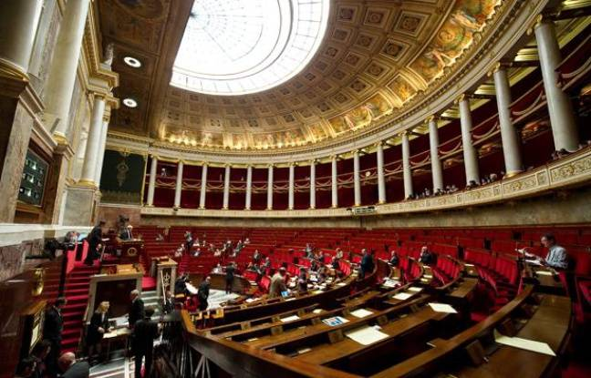 L'assemblée nationale à Paris.