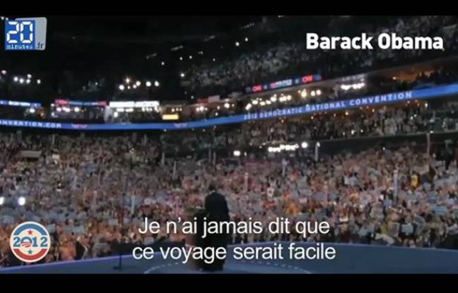 Capture d'écran du zapping «USA 2012: Peopolitique à l'américaine»