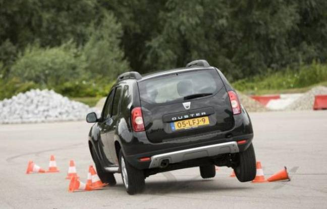 Capture d'écran d'une Dacia Duster en plein effort