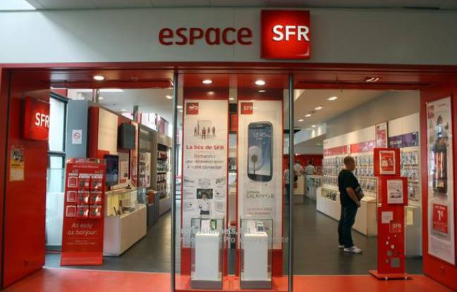 Illustration d'une boutique SFR.