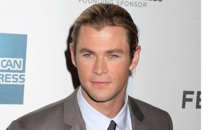 Chris Hemsworth, héros du blockbuster The Avengers,  le 28 avril 2012.