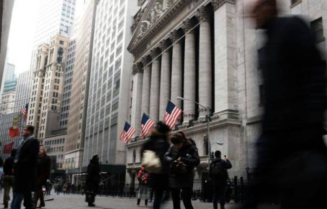 La bourse de New York, le 15 janvier 2016
