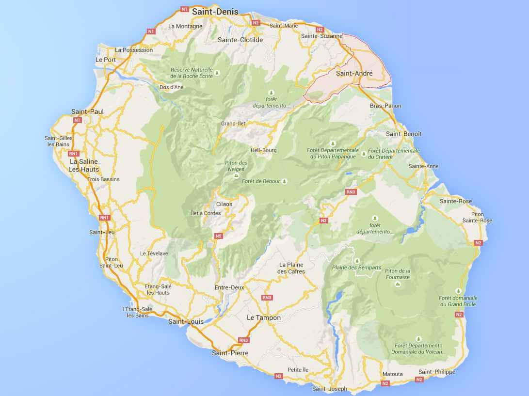 ile de la reunion map. Black Bedroom Furniture Sets. Home Design Ideas