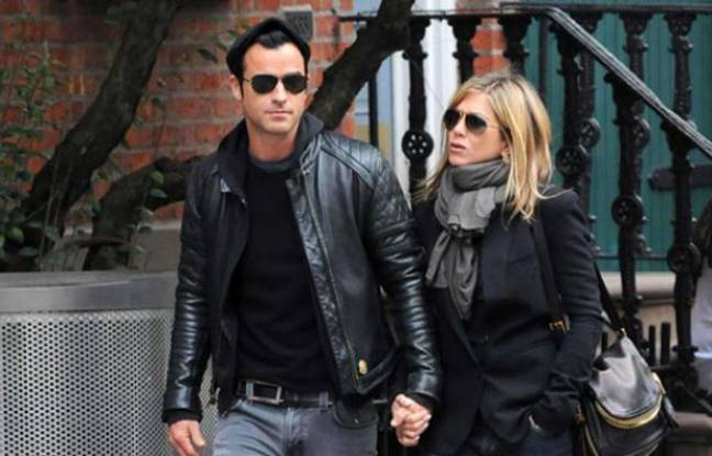 Jennifer Aniston et Justin Theroux le 16 septembre 2011 à Manhattan.
