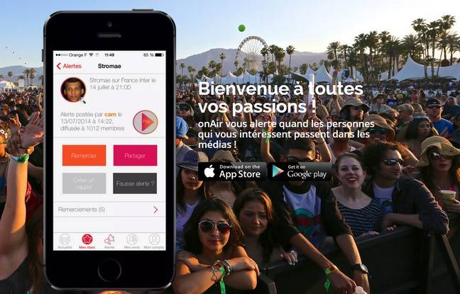 L'application OnAir est disponible sur iOs et Android