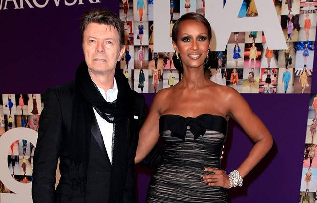 iman entretient la m moire de david bowie. Black Bedroom Furniture Sets. Home Design Ideas
