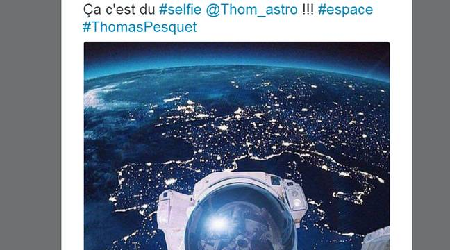 le superbe selfie de la terre qui tourne sur twitter n tait pas de thomas pesquet. Black Bedroom Furniture Sets. Home Design Ideas