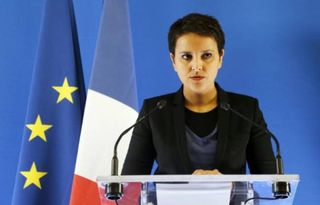 La ministre de l'Education, Najat Vallaud-Belkacem, à Paris le 19 février 2016
