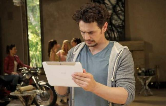 L'acteur James Franco fait la pub du Samsung Galaxy Note 10.1.