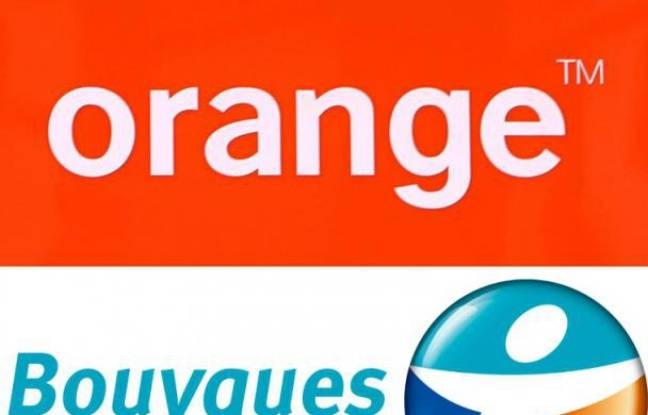 Photo montage des logos de Bouygues Telecom et de Orange