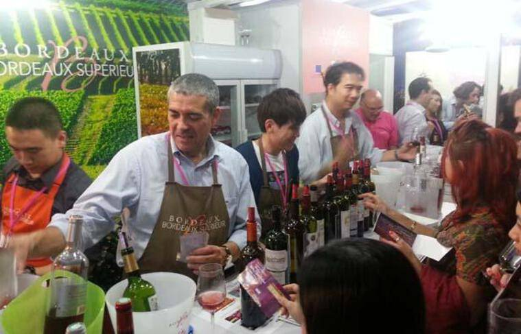 Les vins de Bordeaux au Hong Kong wine and dine Festival.