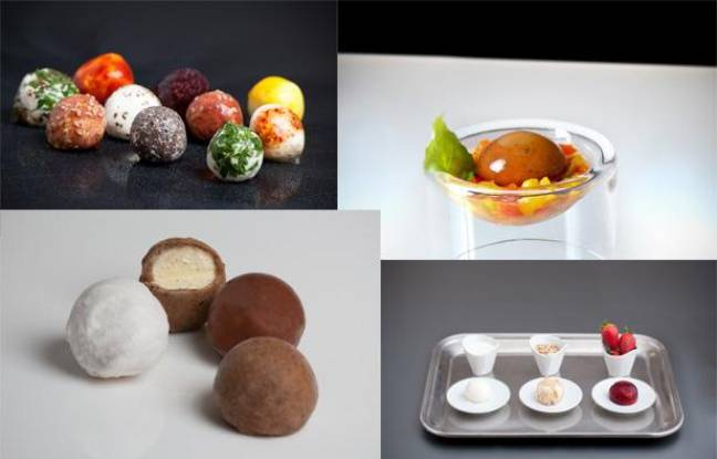 Wikifromage, Wikigaspacho, Wikiglace et Wikiyoghourt, les emballages comestibles inventés par David Edwards.