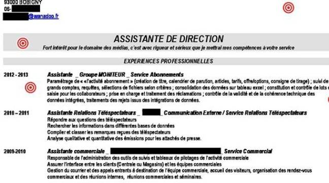 cv assistante de direction