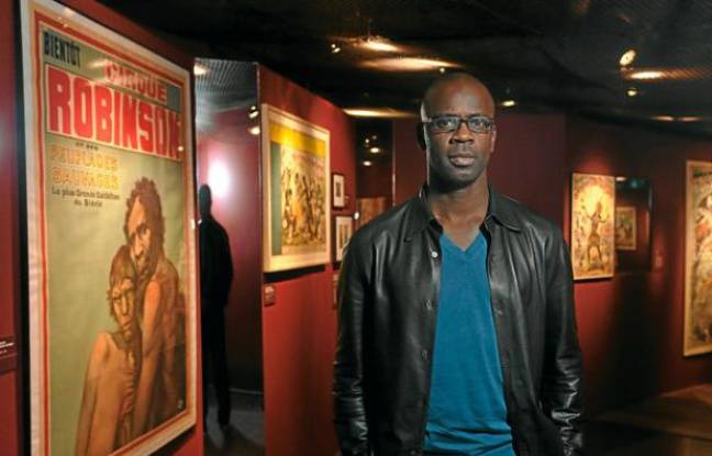 "Lilian Thuram, à l'exposition ""Exhibitions"" au musée du Quai Branly, à Paris."
