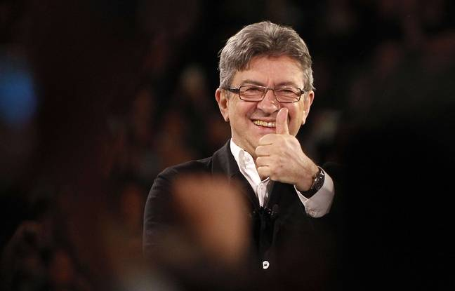 Le 12 avril 2017, Jean-Luc Melenchon. AP Photo/Michel Spingler.