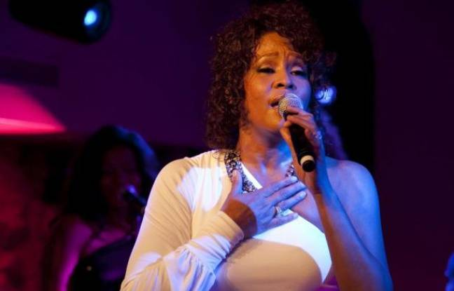 Whitney Houston, lors d'un concert en 2010.