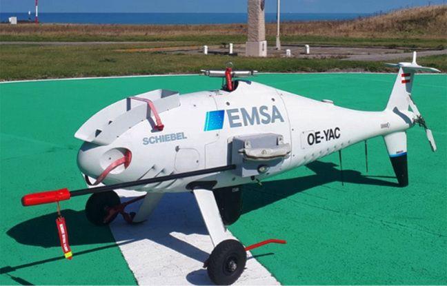 Le drone de l'AESM survolera le détroit du Pas-de-Calais pendant trois mois.