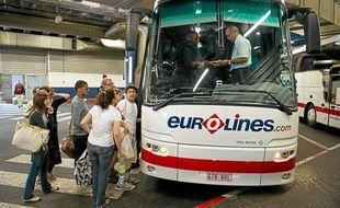 Depuis la gare routière de Bagnolet, le ministre a lancé hier 150nouvelles lignes de car.