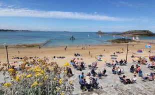 La plage de Bon-Secours à Saint-Malo, ici en juillet 2016.