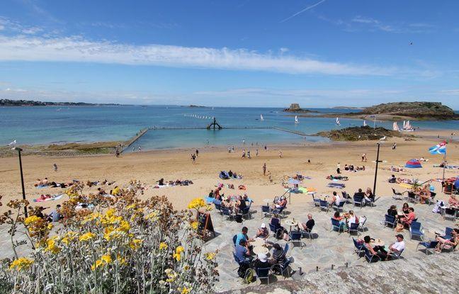 La plage de Bon Secours à Saint-Malo, ici en juillet 2016.