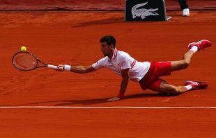 Le Serbe Novak Djokovic, le 7juin 2021, à Roland-Garros, Paris.