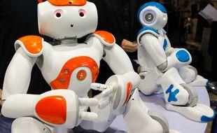 Illustrations / Salon INNOROBOT de Lyon, salon de la robotique . Ici, le robot NAO. Le 19 mars 2013. CYRIL VILLEMAIN/20 MINUTES