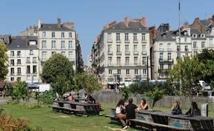 Le square Daviais à Nantes