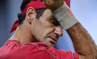 Roger Federer lors du tournoi de Shanghai, le 10 octobre 2019.