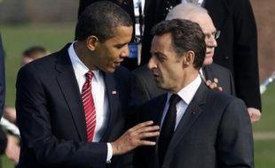 Barack Obama et Nicolas Sarkozy le 4 avril 2009