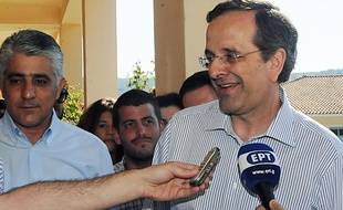Antonis Samaras, président du parti Nouvelle Démocratie, le 17 juin 2012, à Pylos, en Grèce.