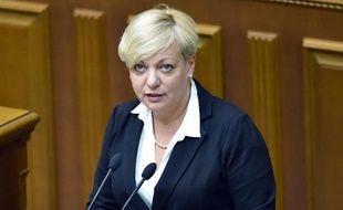 La directrice de la Banque centrale ukrainienne Valeria Gontareva au parlement ukrainien à Kiev le 19 juin 2014