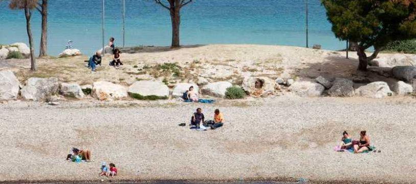 La plage de Corbières à Estaque