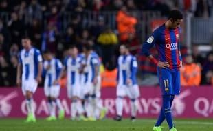 Neymar lors du match entre le Barça et Leganes le 19 février 2017.