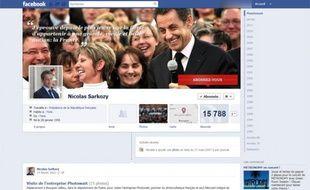 La Timeline Facebook de Nicolas Sarkozy.
